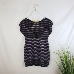 Free People Striped Wool Knit Top Size Large
